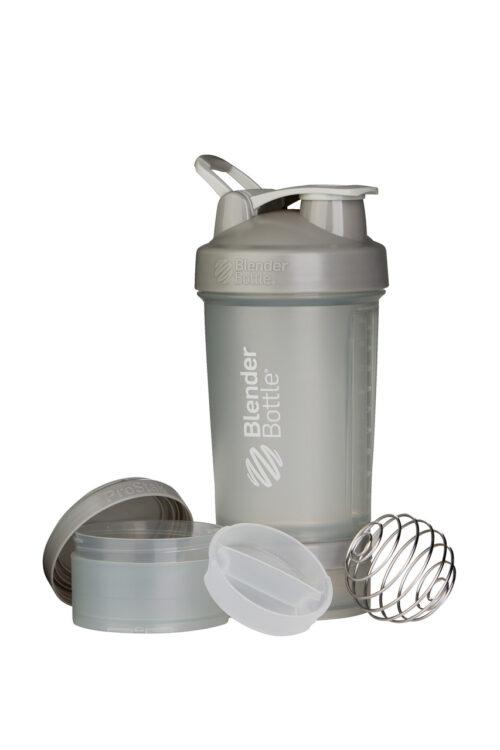 Шейкер спортивний BlenderBottle ProStak 22oz/650ml з 2-ма контейнерами Grey (ORIGINAL) фото 2