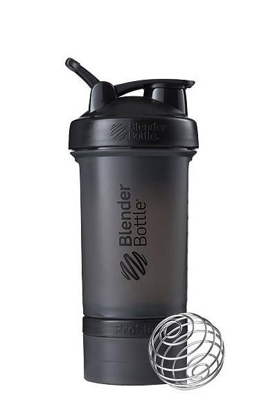 Шейкер спортивний BlenderBottle ProStak 22oz/650ml з 2-ма контейнерами Black (ORIGINAL) фото 1