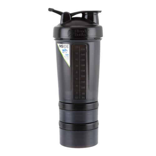 Шейкер спортивний BlenderBottle ProStak 22oz/650ml з 2-ма контейнерами Black (ORIGINAL) фото 4