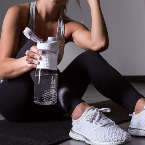 Спортивна пляшка-шейкер BlenderBottle SportMixer Twist 28oz/820ml White (ORIGINAL) фото 4