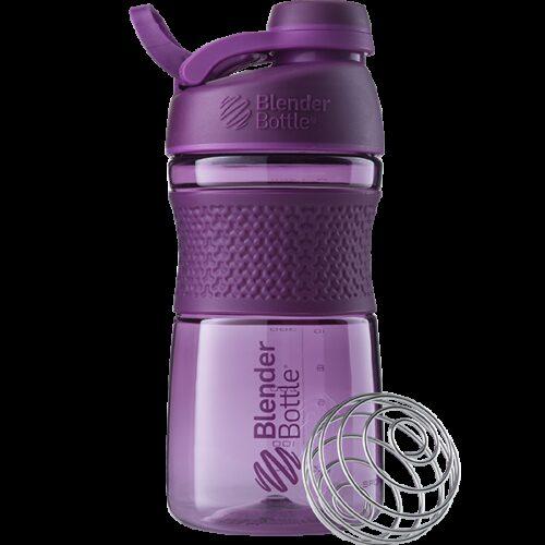 Спортивна пляшка-шейкер BlenderBottle SportMixer Twist 20oz/590ml Plum (ORIGINAL) фото 1