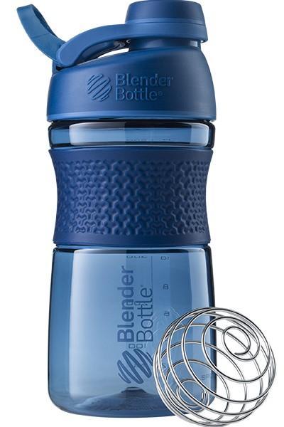 Спортивна пляшка-шейкер BlenderBottle SportMixer Twist 20oz/590ml Navy (ORIGINAL) фото 1