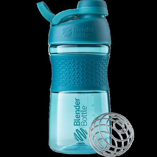 Спортивна пляшка-шейкер BlenderBottle SportMixer Twist 20oz/590ml Teal (ORIGINAL) фото 1