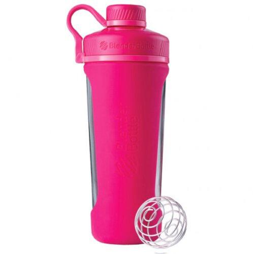 Спортивна пляшка-шейкер BlenderBottle Radian Glass 28oz/820ml Pink (Скло) (ORIGINAL) фото 1