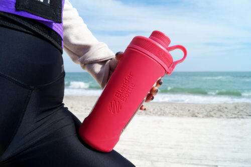 Спортивна пляшка-шейкер BlenderBottle Radian Glass 28oz/820ml Pink (Скло) (ORIGINAL) фото 3