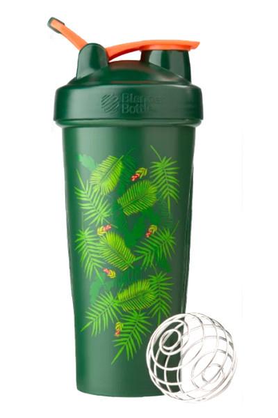 Шейкер спортивний BlenderBottle Classic Loop 28oz/820ml Special Edition Green-Coral (Art Palm) (ORIGINAL) фото 1