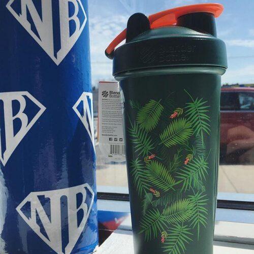Шейкер спортивний BlenderBottle Classic Loop 28oz/820ml Special Edition Green-Coral (Art Palm) (ORIGINAL) фото 2