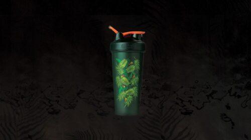 Шейкер спортивний BlenderBottle Classic Loop 28oz/820ml Special Edition Green-Coral (Art Palm) (ORIGINAL) фото 3