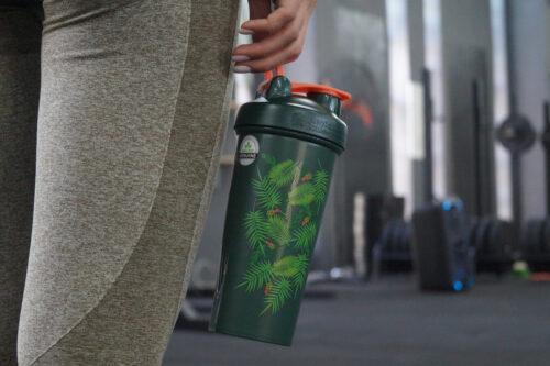 Шейкер спортивний BlenderBottle Classic Loop 28oz/820ml Special Edition Green-Coral (Art Palm) (ORIGINAL) фото 4