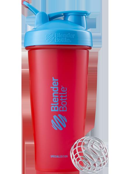 Шейкер спортивный BlenderBottle Classic Loop 28oz/820ml Special Edition Sonic Red/Blue (ORIGINAL) фото 1