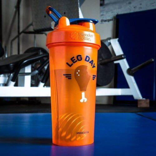 Шейкер спортивний BlenderBottle Classic Loop 28oz/820ml Special Edition Leg Day Orange (ORIGINAL) фото 2