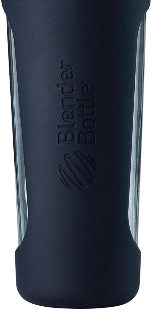 Спортивная бутылка-шейкер BlenderBottle Radian Glass 28oz/820ml Black (Скло) (ORIGINAL) фото 4