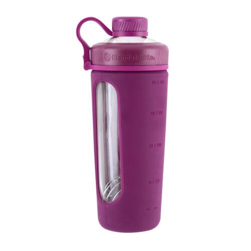 Спортивная бутылка-шейкер BlenderBottle Radian Glass 28oz/820ml Plum (Скло) (ORIGINAL) фото 3
