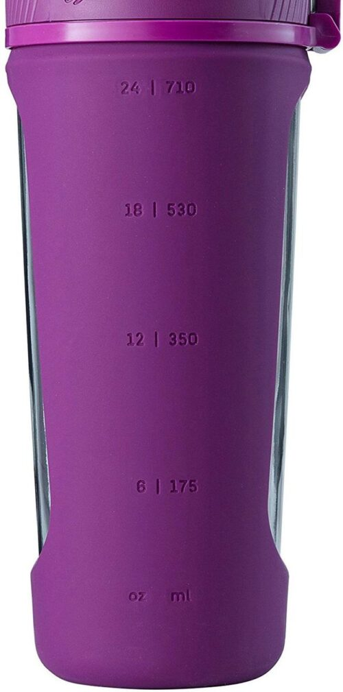Спортивная бутылка-шейкер BlenderBottle Radian Glass 28oz/820ml Plum (Скло) (ORIGINAL) фото 7