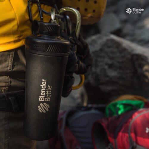 Спортивная бутылка-шейкер BlenderBottle Radian Thermo Edelstahl 26oz/770ml Black (ORIGINAL) фото 3