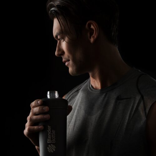 Спортивная бутылка-шейкер BlenderBottle Radian Thermo Edelstahl 26oz/770ml Black (ORIGINAL) фото 4
