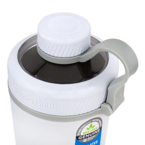 Спортивная бутылка-шейкер BlenderBottle Radian Thermo Edelstahl 26oz/770ml White (ORIGINAL) фото 2