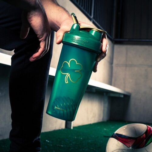 Шейкер спортивный BlenderBottle Classic Loop 28oz/820ml Special Edition Gold Green (ORIGINAL) фото 2