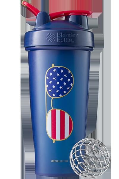 Шейкер спортивный BlenderBottle Classic Loop 28oz/820ml Special Edition Freedom Blue (ORIGINAL) фото 1