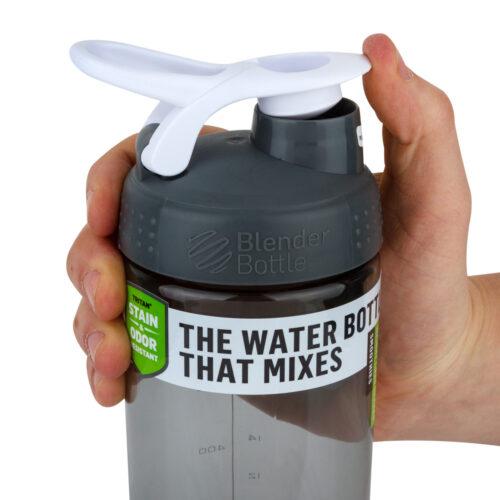 Спортивная бутылка-шейкер BlenderBottle SportMixer Sleek Promo 28oz/820ml Grey (ORIGINAL) фото 2