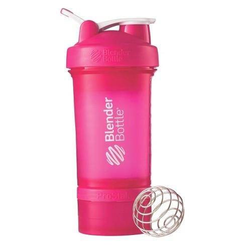 Шейкер спортивный BlenderBottle ProStak с шариком 650 мл Розовый фото 1