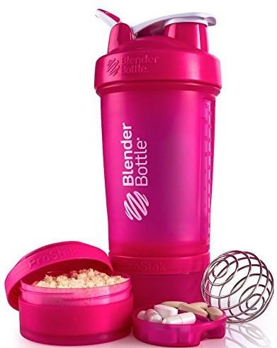 Шейкер спортивный BlenderBottle ProStak с шариком 650 мл Розовый фото 2