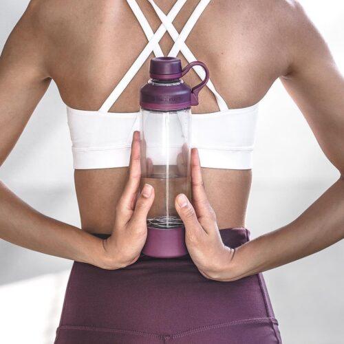 Спортивная бутылка-шейкер BlenderBottle Mantra Glass Plum (СКЛО) 600мл (ORIGINAL) фото 5