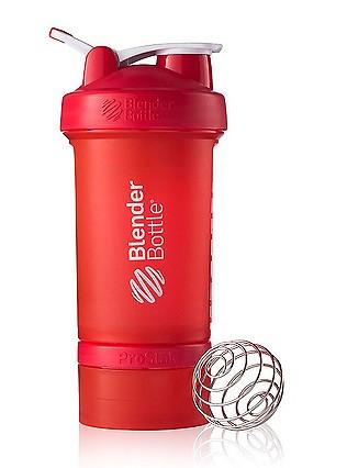 Шейкер спортивный BlenderBottle ProStak с шариком 650 мл красный фото 1