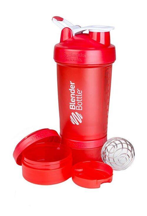 Шейкер спортивный BlenderBottle ProStak с шариком 650 мл красный фото 2