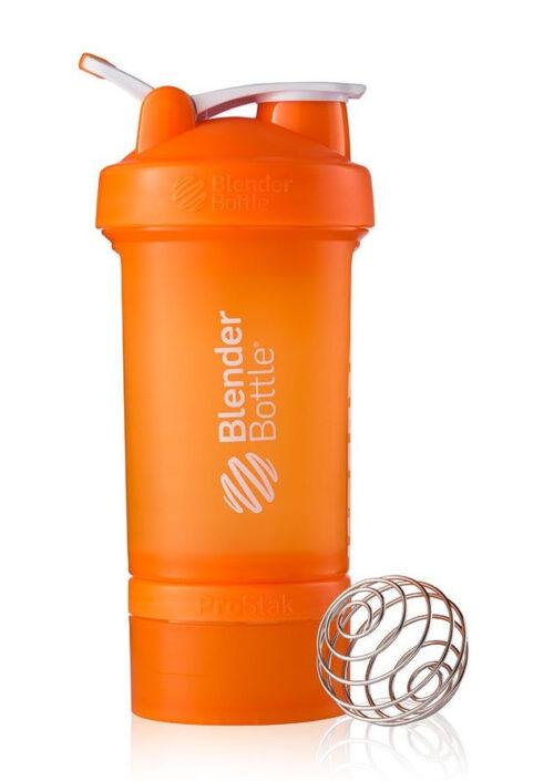 Шейкер спортивный BlenderBottle ProStak с шариком 650 мл оранжевый фото 1