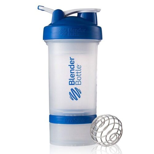Шейкер спортивный BlenderBottle ProStak с шариком 650 мл Прозрачный-Синий фото 1