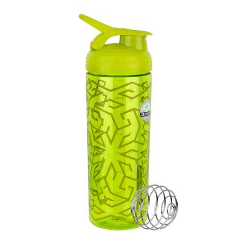 Спортивная бутылка-шейкер BlenderBottle SportMixer Signature Sleek 28oz/820ml Green Zen Gala (ORIGINAL) фото 1