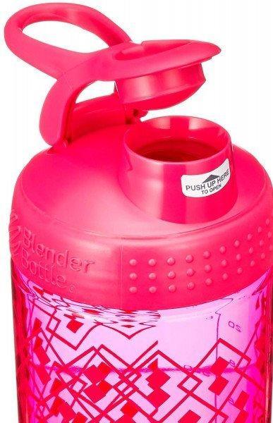 Спортивная бутылка-шейкер BlenderBottle SportMixer Signature Sleek 28oz/820ml Pink Geo Lace (ORIGINAL) фото 4