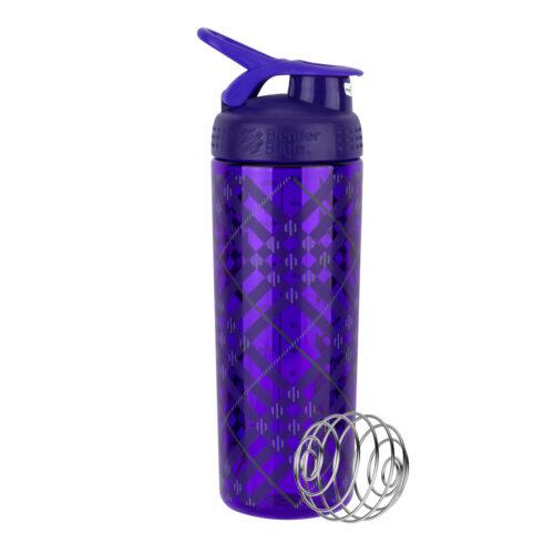 Спортивная бутылка-шейкер BlenderBottle SportMixer Signature Sleek 28oz/820ml Purple Tratan Plaid (ORIGINAL) фото 1