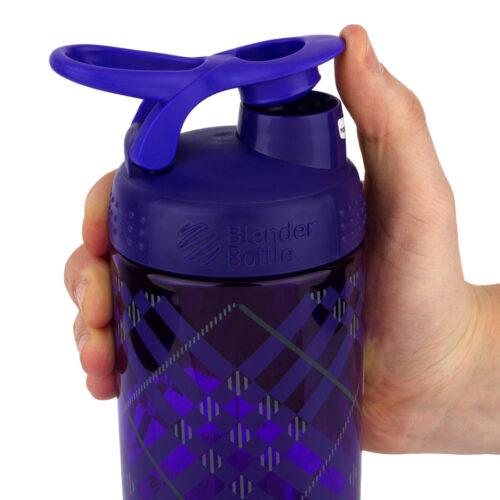Спортивная бутылка-шейкер BlenderBottle SportMixer Signature Sleek 28oz/820ml Purple Tratan Plaid (ORIGINAL) фото 2