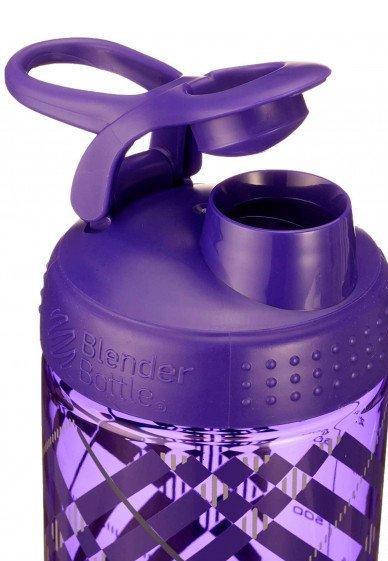 Спортивная бутылка-шейкер BlenderBottle SportMixer Signature Sleek 28oz/820ml Purple Tratan Plaid (ORIGINAL) фото 3