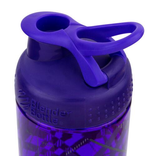 Спортивная бутылка-шейкер BlenderBottle SportMixer Signature Sleek 28oz/820ml Purple Tratan Plaid (ORIGINAL) фото 4