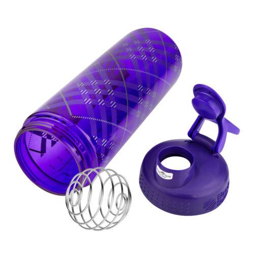 Спортивная бутылка-шейкер BlenderBottle SportMixer Signature Sleek 28oz/820ml Purple Tratan Plaid (ORIGINAL) фото 5