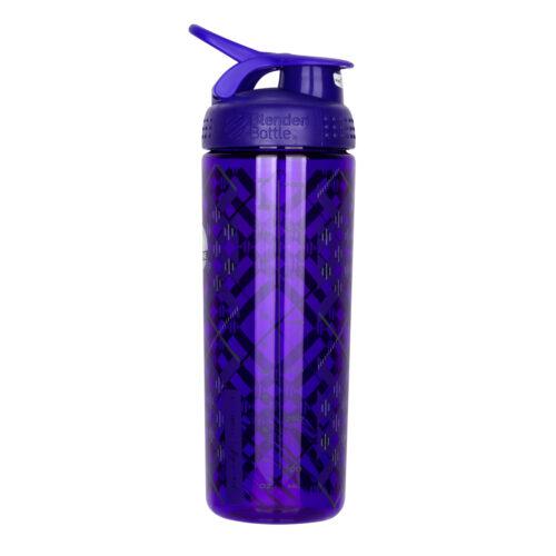 Спортивная бутылка-шейкер BlenderBottle SportMixer Signature Sleek 28oz/820ml Purple Tratan Plaid (ORIGINAL) фото 7