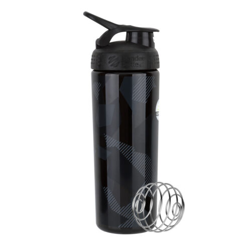 Спортивная бутылка-шейкер BlenderBottle SportMixer Signature Sleek 28oz/820ml Black Shattered Slate (ORIGINAL) фото 1