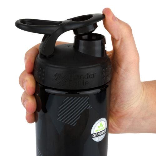 Спортивная бутылка-шейкер BlenderBottle SportMixer Signature Sleek 28oz/820ml Black Shattered Slate (ORIGINAL) фото 2