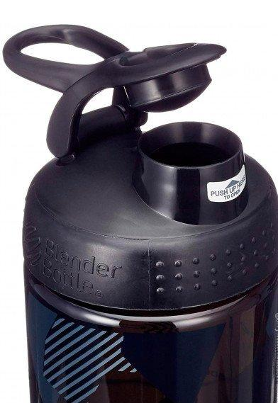 Спортивная бутылка-шейкер BlenderBottle SportMixer Signature Sleek 28oz/820ml Black Shattered Slate (ORIGINAL) фото 3