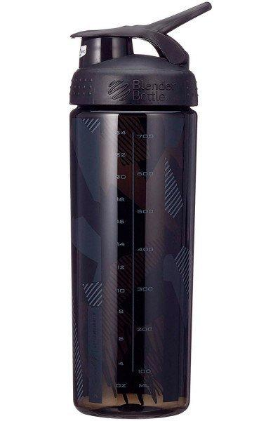 Спортивная бутылка-шейкер BlenderBottle SportMixer Signature Sleek 28oz/820ml Black Shattered Slate (ORIGINAL) фото 7