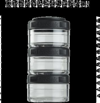 Контейнер спортивный BlenderBottle GoStak 3*60 Black (ORIGINAL) фото 1