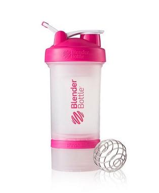 Шейкер спортивный BlenderBottle ProStak с шариком 650 мл Прозрачный-Розовый фото 1