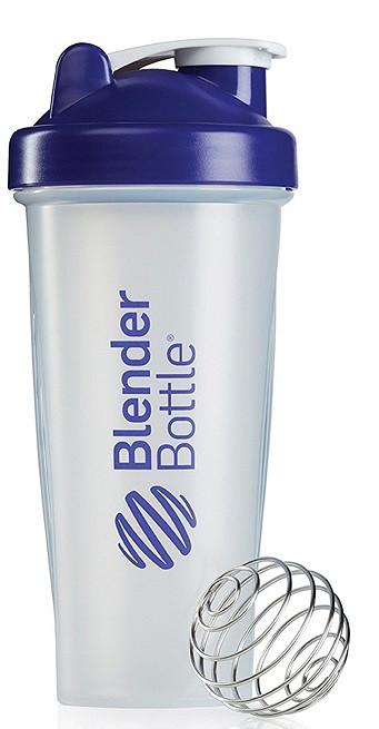 Шейкер спортивный BlenderBottle Classic 28oz/820ml прозрачный/фиолетовый (ORIGINAL) фото 1
