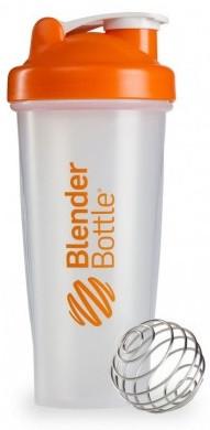 Шейкер спортивный BlenderBottle Classic 28oz/820ml прозрачный/оранжевый (ORIGINAL) фото 1