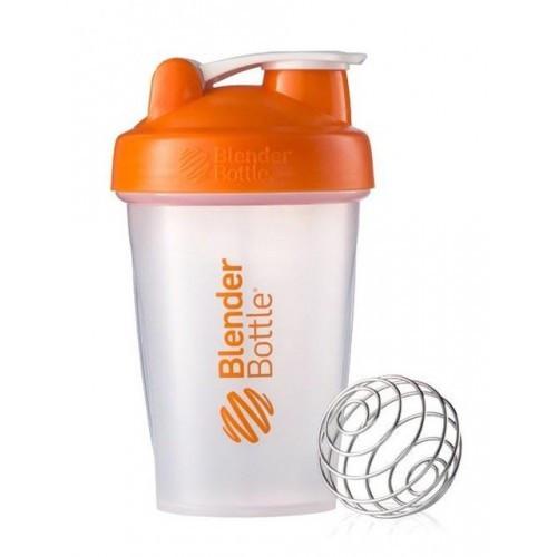 Шейкер спортивный BlenderBottle Classic 20oz/590ml прозрачно/оранжевый (ORIGINAL) фото 1