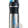 Спортивная бутылка-шейкер BlenderBottle SportMixer Stainless Steel Cyan 820ml (из нержавеющей пищевой cтали) фото 1