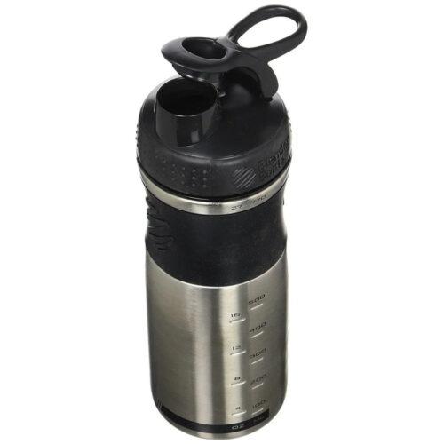 Спортивная бутылка-шейкер BlenderBottle SportMixer Stainless Steel Black 820ml (из нержавеющей пищевой cтали) фото 4